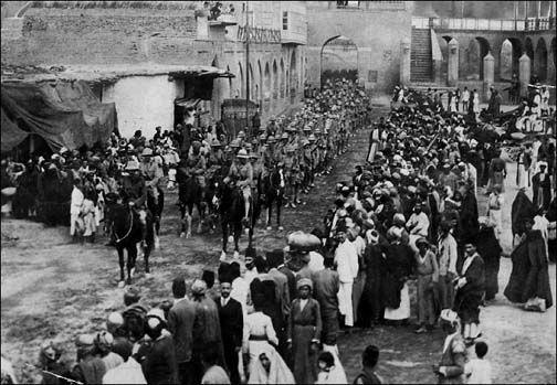 March 1917, British commander Lt.-General Stanley Maude enters Baghdad