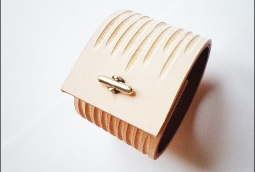 Marion Courtille jewellery, made from leather. http://marioncourtille.blogspot.co.nz
