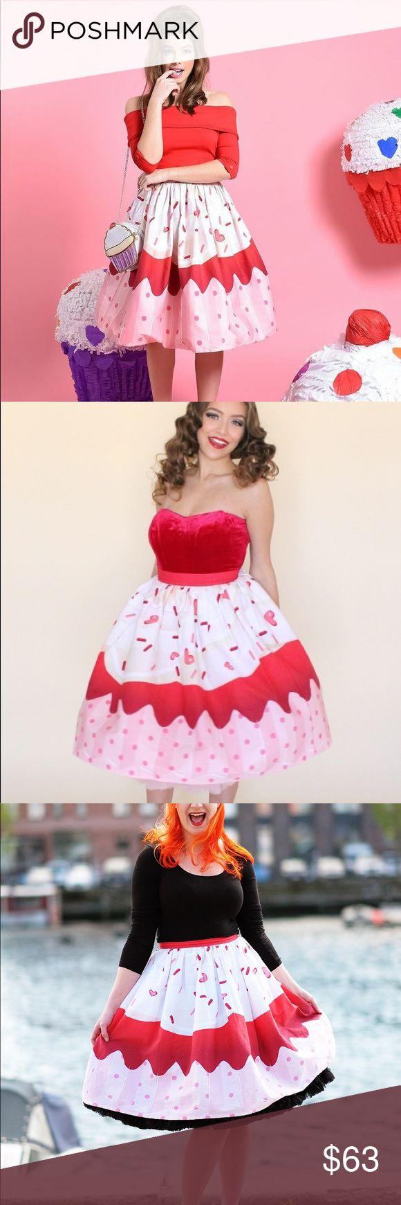 Pink Cupcake Sprinkles Kawaii Swing Skirt NWT. No trades. Price is firm. ModCloth Skirts Midi