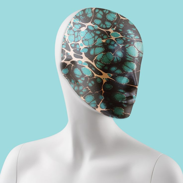 Marble patterned mask #FemaleMannequins #mask #marble #print