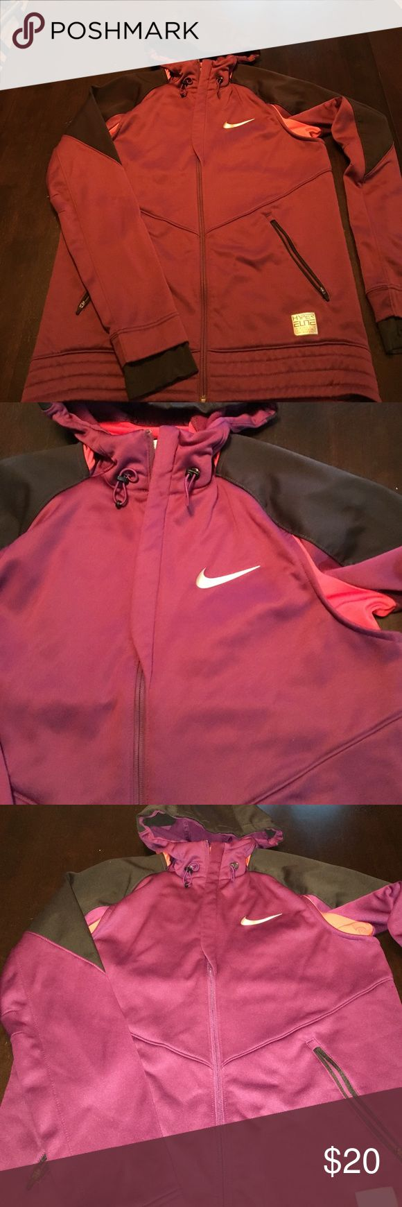 Woman's Nike jacket Very cool Nike jacket.  It is light weight and very comfy.  Excellent condition.   It is a nice purple color. Nike Jackets & Coats
