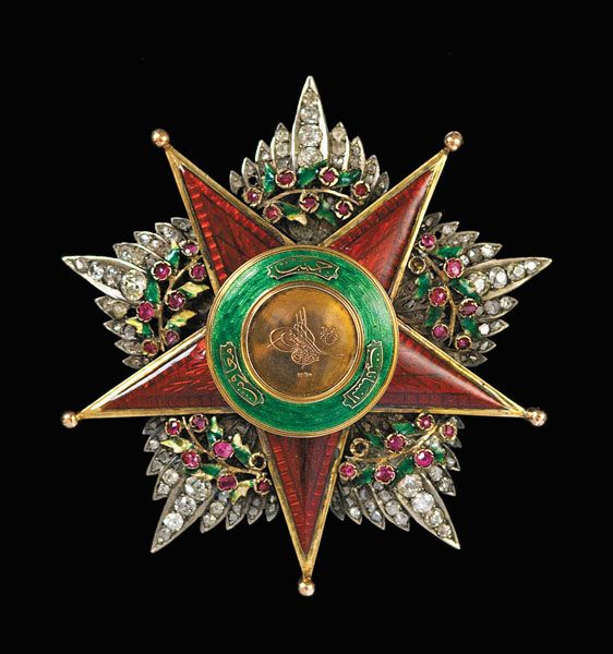Order of Charity (Nişan-ı Şefkat) (Ottoman Empire) – First Class Star