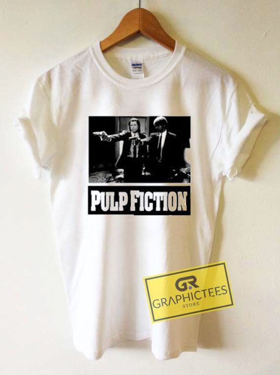 Pulp Fiction Black and White Graphic Tees Shirts //Price: $13.50 //     #trendy graphic tees