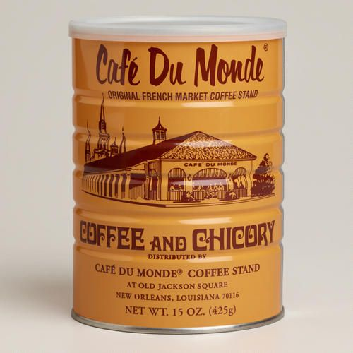 One of my favorite discoveries at WorldMarket.com: Cafe Du Monde Coffee and Chicory. LOVE chicory coffee!