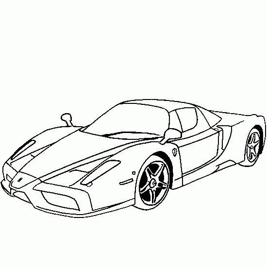 Car printables to print sls coloring ferrari enzo car for Coloring pages ferrari cars