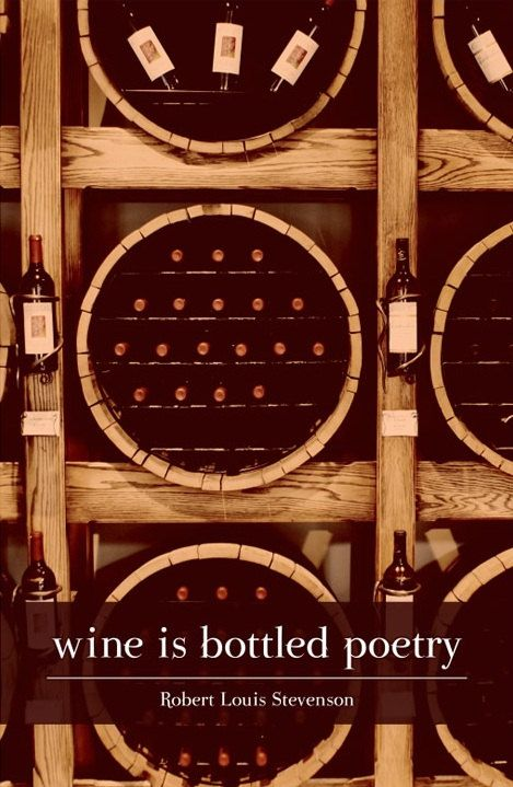 "Canvas Quote Art - ""Wine is bottled poetry."" - Robert Louis Stevenson"