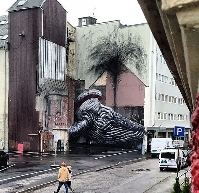 Street Art By ROA In Norway For Nuart.