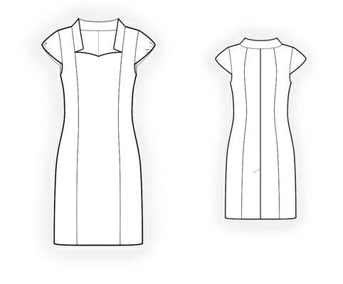 4184 PDF Dress Sewing Pattern - Women Clothes, Personalized for your custom size