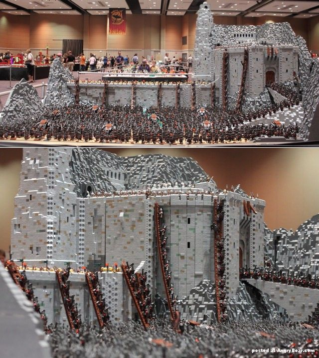 The most epic LEGO construction. More images here: http://www.angryboar.com/?p=14911
