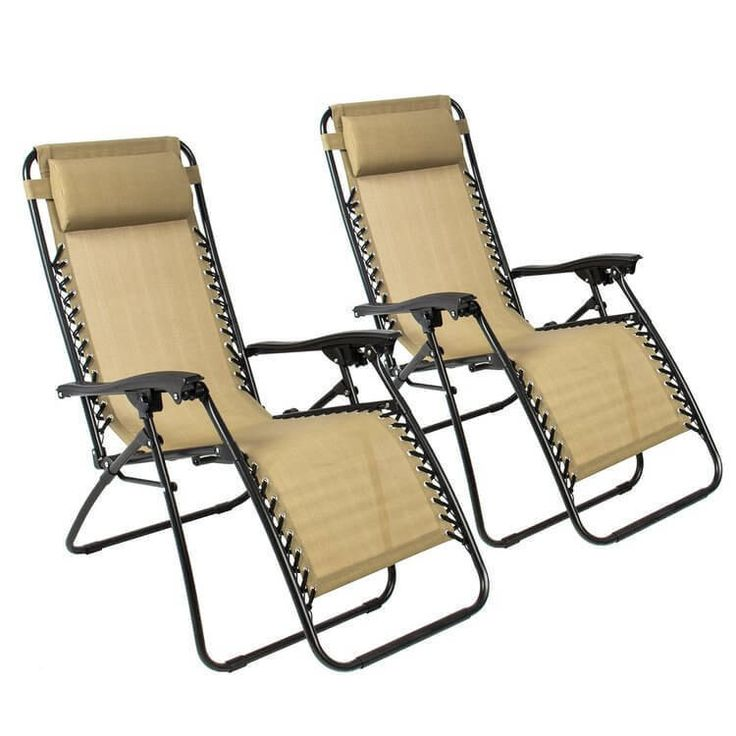 Patio Lounge Chairs Outdoor Furniture Set of 2 Beach Yard Recliner Relax New #BestChoiceproducts