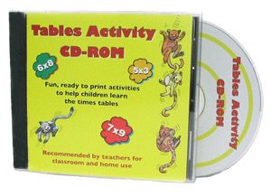 Multiplication Times Tables Activity CD ROM