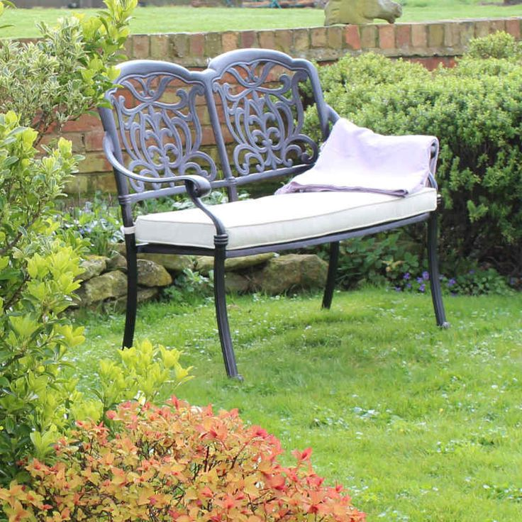Dark Bronze 2 Seater Garden Bench | Cast Aluminium | Garden Furniture