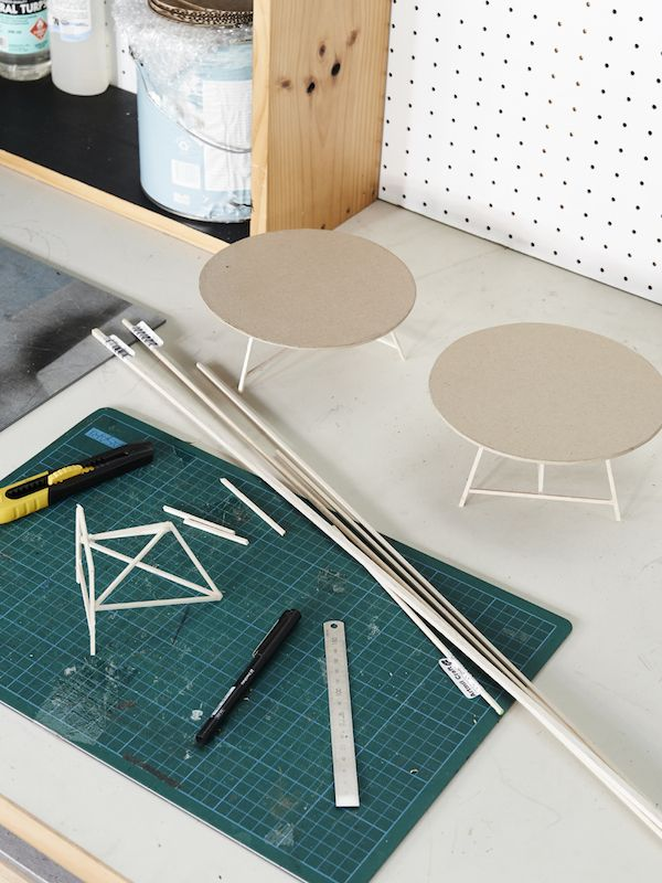 Making scale models for new products. Photo – Eve Wilson for The Design Files.