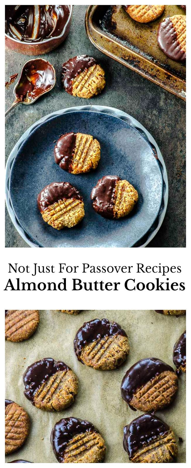 Chewy and delicious gluten-free almond butter cookies sweetened with dates and with only 5 ingredients! via @mayihavethatrecipe