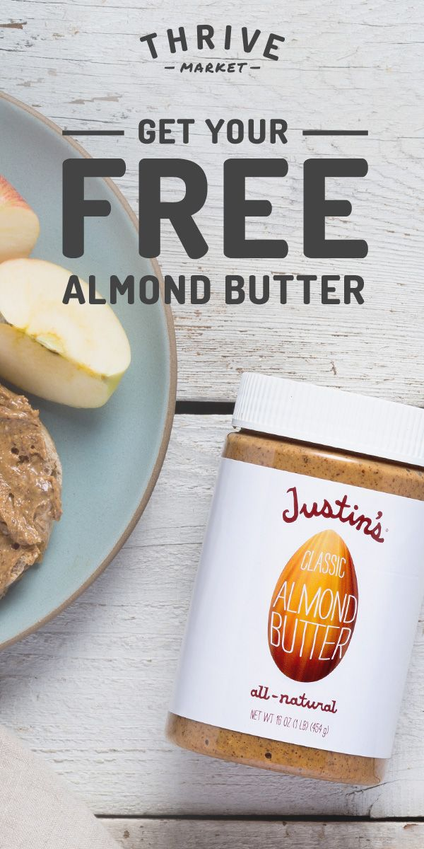 Discover Thrive Market for organic products. PLUS get your FREE full jar of Justin's Almond Butter from Thrive Market today!