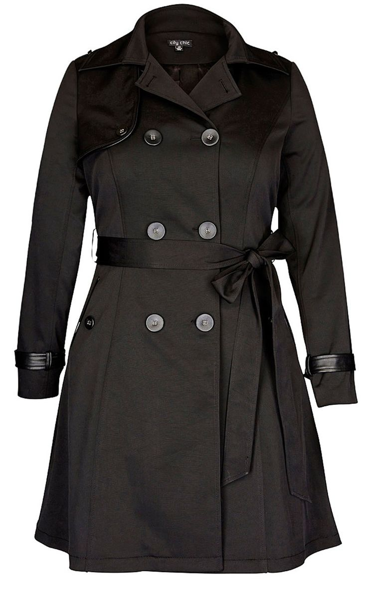 Women's Plus Size Corset Back Trench Coat | City Chic USA