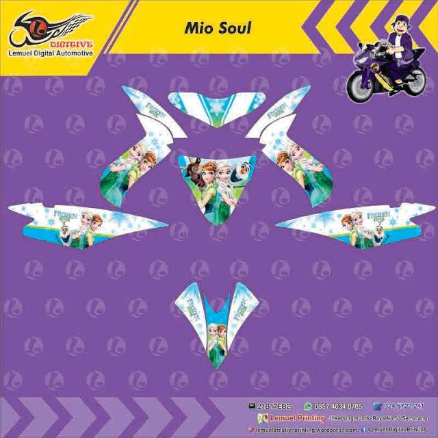 Custom Decal Vinyl Striping Motor Full Body Yamaha Mio Soul Thema - Mio decalsmodifikasi striping mio j striping stickers decals joehansb
