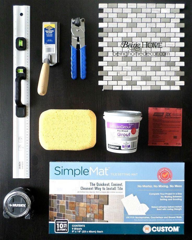 Hometalk :: Super Simple DIY Tile Backsplash tiling supplies. special note  of the simple