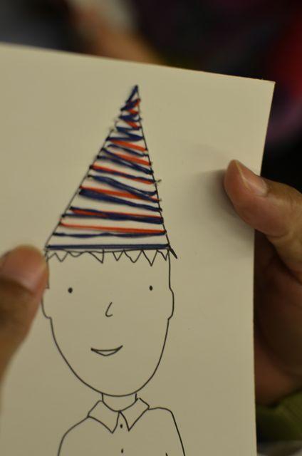 borduren op papier: workshop leerkrachten Kinderboekenweek 2014: feest
