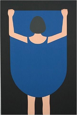 Geoff McFetridge, Girl Lifting Skirt 2