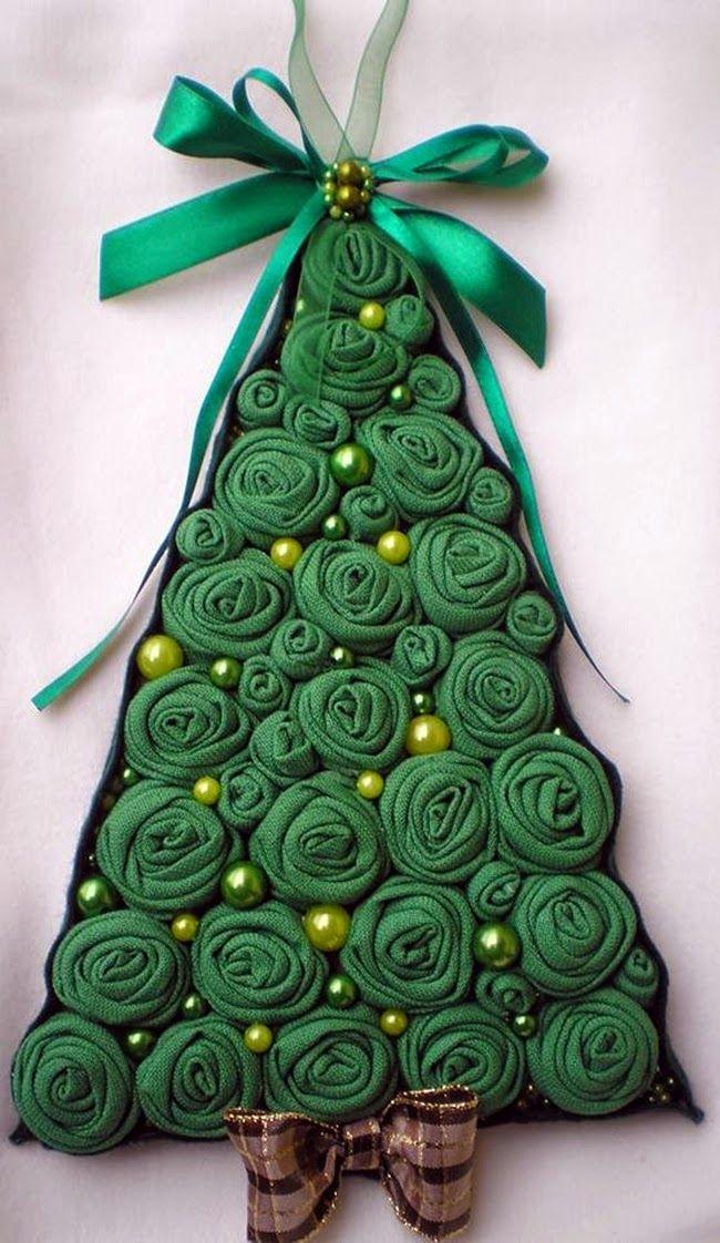 MENTŐÖTLET - kreáció, újrahasznosítás: Karácsonyfa ajtódísz