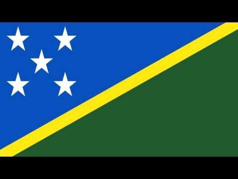 Bandera e Himno Nacional de Islas Salomón - Flag and National Anthem of Solomon Islands - YouTube