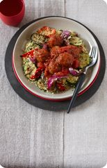 Moroccan meatballs with vegetable couscous