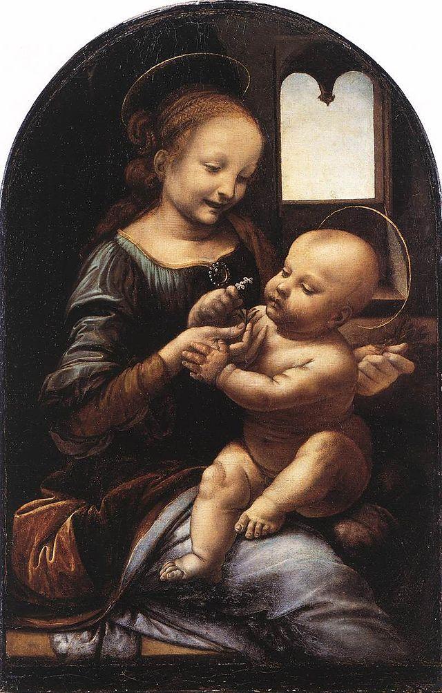 Leonardo da Vinci Benois Madonna - Anexo:Cuadros de Leonardo da Vinci - Wikipedia, la enciclopedia libre