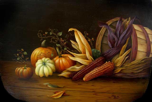 Autumn Gathering Basket - Sharon Hamilton, MDA