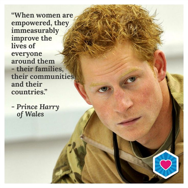 Prince Harry stands up for the empowerment and respect of women! #PrinceHarry