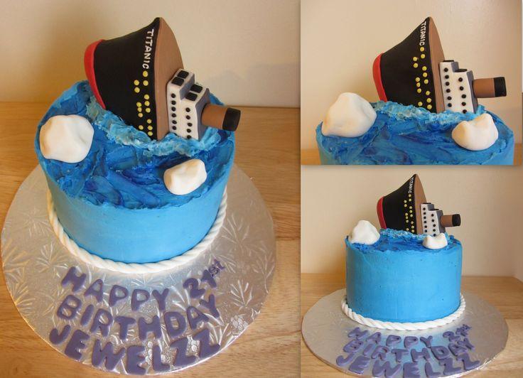 Sinking Titanic cake https://www.facebook.com/sweetshopandbakery