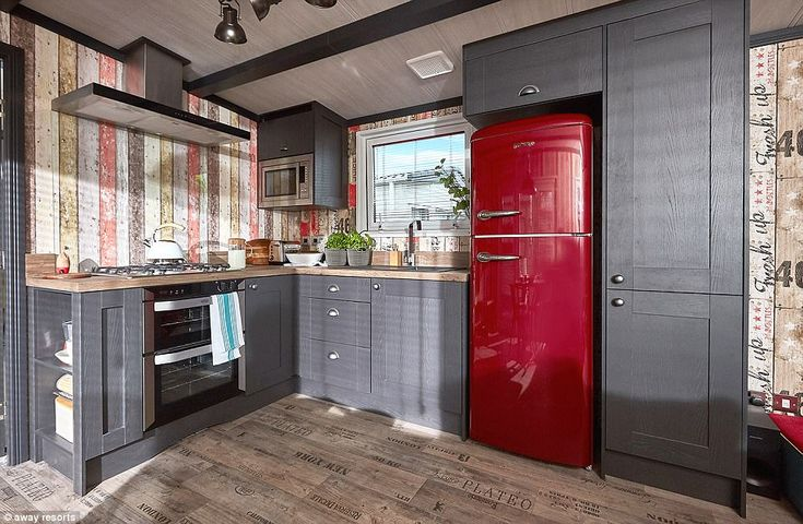 The kitchen: The TriBeCa caravans will be available at Away Resorts's parks in the Isle of Wight and Lincolnshire
