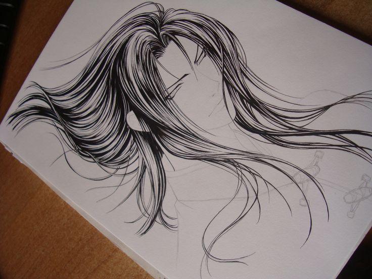 Hair (pencil)