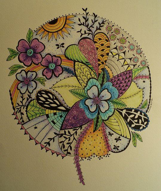 Flower zendala
