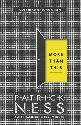 """More than this"", by Patrick Ness - A boy drowns, desperate and alone in his final moments. He dies. Then he wakes, naked and bruised and thirsty, but alive. How can this be? And what is this strange deserted place? As he struggles to understand what is happening, the boy dares to hope. Might this not be the end? Might there be more to this life, or perhaps this afterlife?"