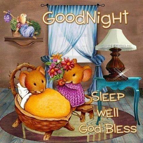 GoodNight, Sleep well. God Bless.
