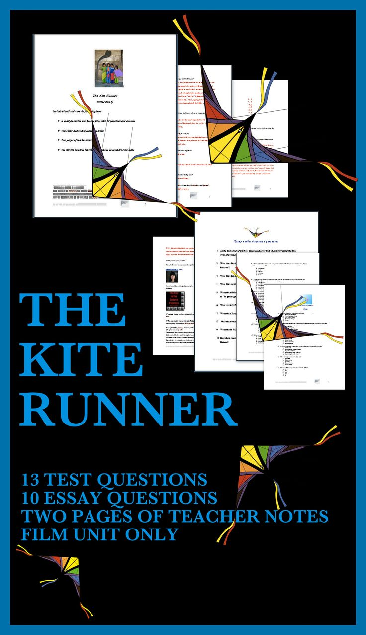 Write the thesis kite runner