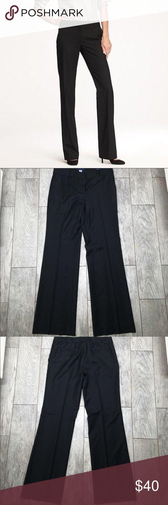 """J. Crew city fit super 120's black slacks pants 6 J. Crew city fit super 120's black slacks pants. Perfect slacks for work. EUC- no flaws. Size 6. 32"""" inseam, 16"""" waist, 9"""" front rise, 15"""" back rise J. Crew Pants Trousers"""