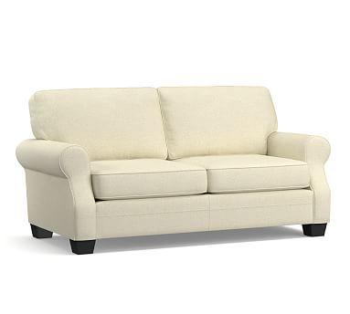 SoMa Fremont Roll Arm Upholstered Sofa #potterybarn