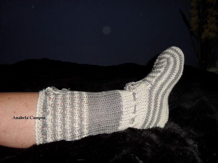 .: Pantufas de lã / Botas de andar por casa