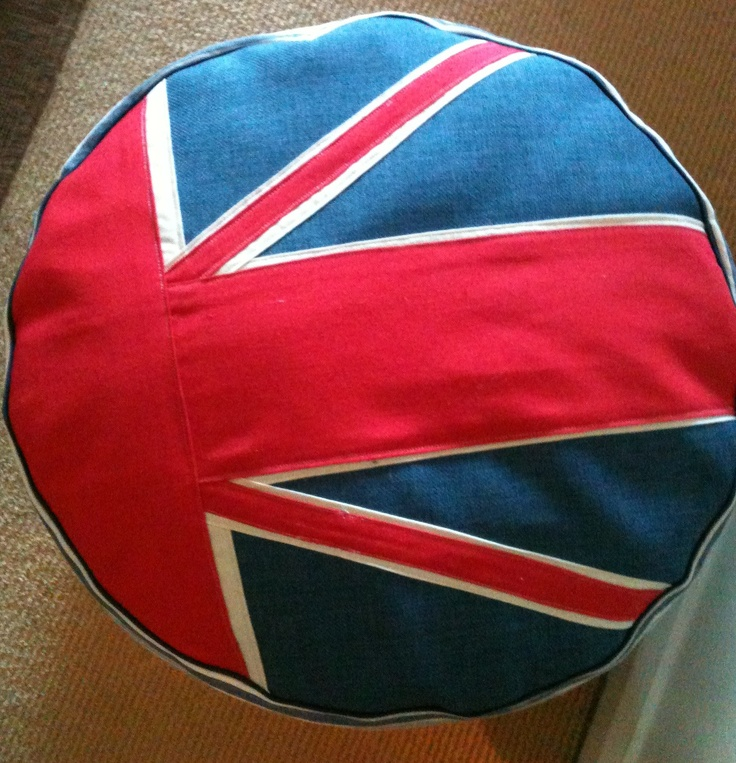 union jack ottoman  My British Obsession  Pinterest