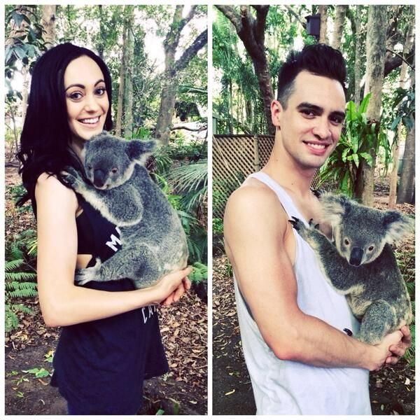 Brendon Urie and Sarah awww ❤️❤️