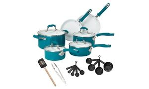 Complete set of durable pots, pans, measuring instruments, and cooking utensils helps prepare flavorful meals
