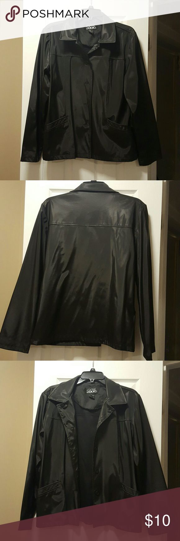 Highway 2000 Rain Jacket 100% Polyurethane Highway 2000 Rain Jacket..with pockets on both sides and 5 button closures in front will Def keep you dry while still being stylish Highway 2000 Jackets & Coats