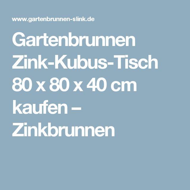 Gartenbrunnen Zink Kubus Tisch 80 X 80 X 40 Cm Kaufen U2013 Zinkbrunnen