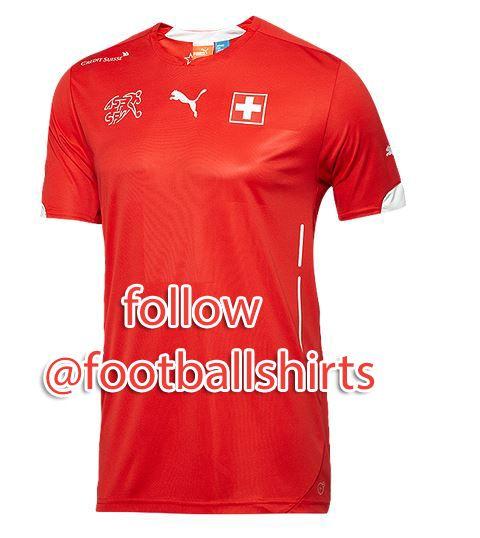 aaa version soccer jersey switzerland puma 2014 world cup home shirt