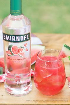 Make your next summer picnic one to remember with the delicious Watermelon Smash. Just mix up 1.5 cups Smirnoff Watermelon, Crushed Watermelon or Watermelon Juice, 3 Cups Tonic. Serves 8.