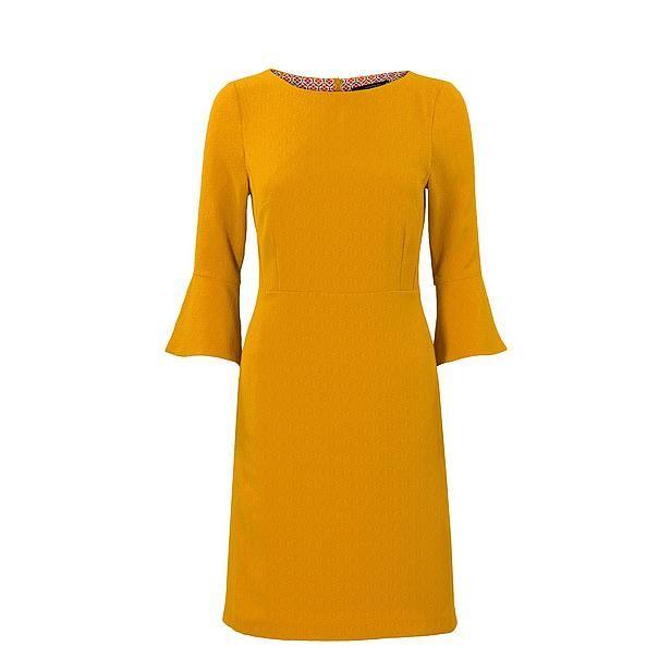 Steps jurk okergeel dress mustard yellow Bestel nu bij wehkamp.nl