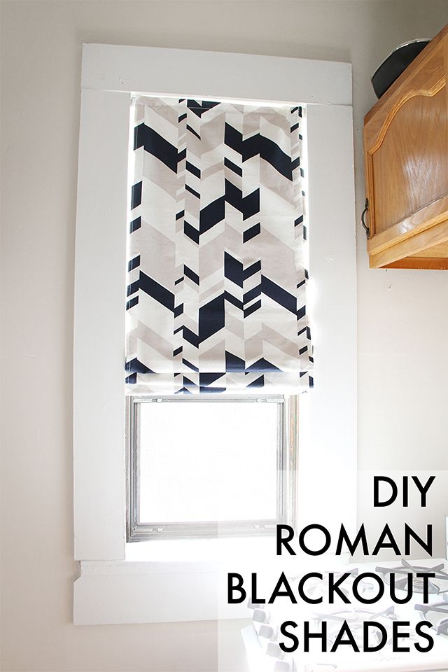 diy roman blackout shades
