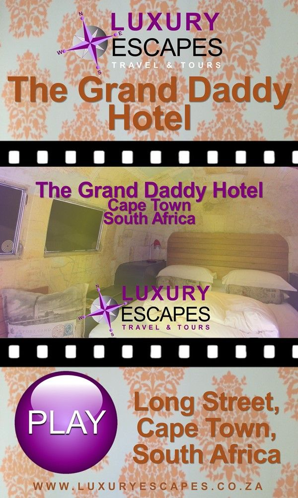 Join us today as we visit the unique Grand Daddy Boutique Hotel situated on the famous Long Street in Cape Town's CBD. Watch on https://youtu.be/C3e71yzhyso . Enjoy!